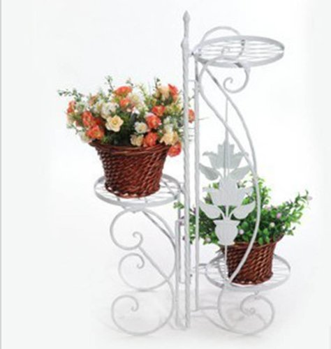 pacte pour blanc porte pot pots plante fleurs 3 etagere. Black Bedroom Furniture Sets. Home Design Ideas