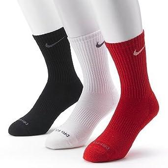 Nike Mens 3-pk. Dri-FIT Cushioned Crew Socks - Made in USA by Nike