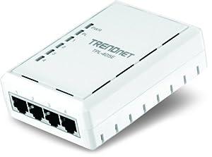 TRENDnet 4-Port 500 Mbps Powerline Ethernet AV Adapter TPL-405E (White)