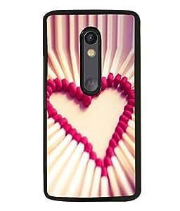 printtech Matchstick Love Heart Back Case Cover for Motorola Moto G3 , Motorola Moto G (3rd Gen)