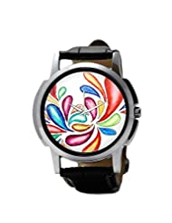 PosterGuy Abstract Color Splash Men's Wrist Watches