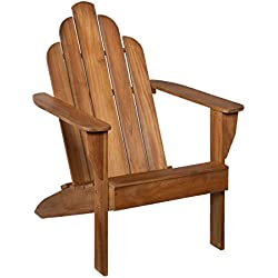 Teak Adirondack Chair - Outdoor Patio Teak-Wood Chair by SEI