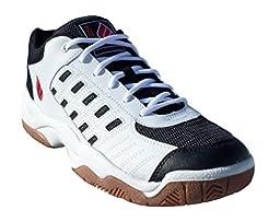 Ektelon NFS Classic II Low Racquetball Shoe- White/Black/Red-9.5