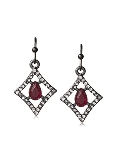 Fragments Red & White Cutout Drop Earrings