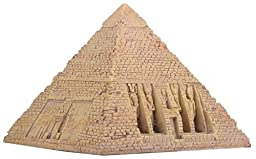 Egyptian Sandstone Pyramid Box Collectible Egypt Decoration Container by Summit