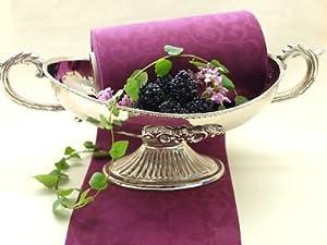 20m 15cm duni tischband lila aubergine tischdeko hochzeit for Tischdeko aubergine