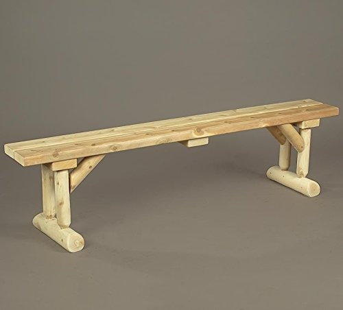 Rustic Natural Cedar Bench, Dining Table Style