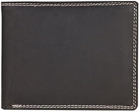Solo Pelle Vintage Geldbörse aus geöltem Büffelleder und mit Doppelnaht Model: 7876 (Querformat, Dunkelbraun)