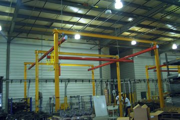Beacon Self Support Bridge Crane; Runway Length (Feet): 20; Bridge Length (Feet): 10; Overall Height (Feet): 14; Capacity (LBS): 500; Model# BB1020-500