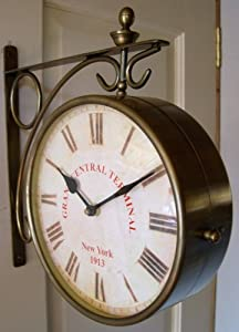 New York Grand Central Terminal Double Sided Wall Clock