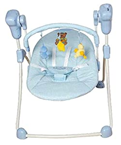 Columpio plegable para bebés, color celeste. Hamaca, balancín o silla mecedora para niños de TORAL BEBE SL en BebeHogar.com