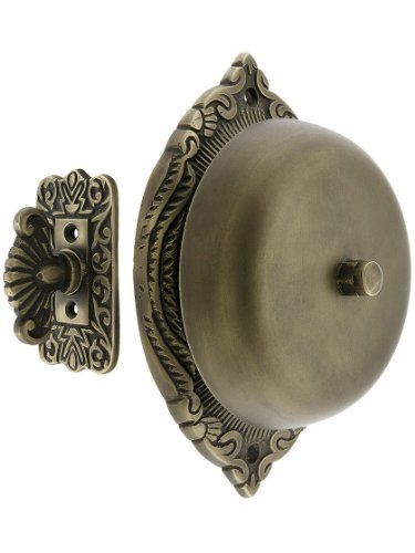 Transitional Victorian Mechanical Door Bell In Antique