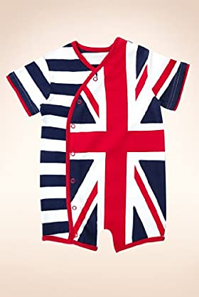 Pure Cotton Union Jack All-in-One