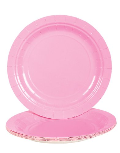 Light Pink Dessert Paper Plates (25 pc)