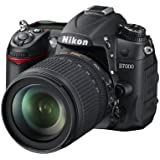 Nikon D7000 - Cámara réflex digital de 16.2 Mp (estabilizador óptico), color negro - kit con objetivo AF-S DX 18-105mm VR