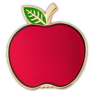 Red Apple School Teacher Lapel Pin