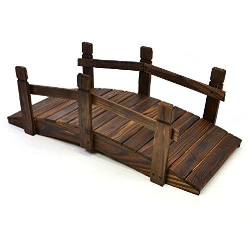 kleine holzbr cke teichbr cke teich garten holz deko br cke mit gel nder braun. Black Bedroom Furniture Sets. Home Design Ideas