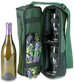 Dark Green Wine Traveler Carrier