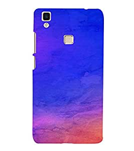 PrintVisa Blue Design 3D Hard Polycarbonate Designer Back Case Cover for VivoV3 MAX