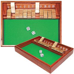 SHUT THE BOX Game - 12 Numbers. Product Category: Toys & Games > Games