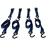 Highland (9210600) 6' Blue Cambuckle Tie Down with Hooks - 4 piece