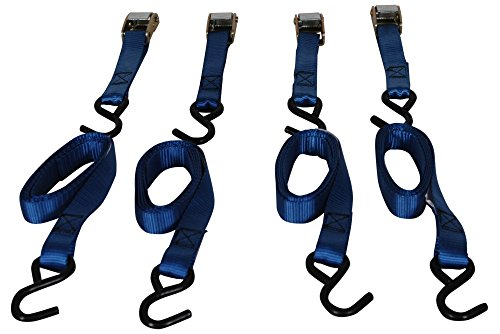 Highland (92106) 6' Blue Cambuckle Tie Down With Hooks - 4 Piece front-66860