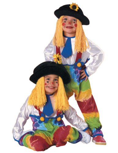 Colorful Clown Yarn Toddler Costume - Toddler Halloween Costume