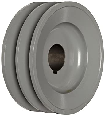 "TB Woods 2BK50118 FHP Bored-To-Size, 4.75"" Outside Body Diameter, 1.125"" Bore Diameter V-Belt Sheave"