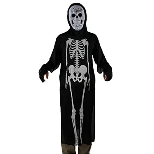 [Oksale® Halloween Party Hooded Cloak Coat Wicca Robe Medieval Cape Shawl Ghost Witch Cothes (B)] (Jail Costume For Kids)