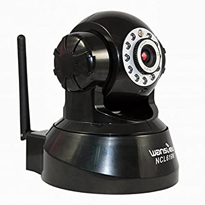 Wansview Wireless Surveillance IP Camera, Pan/Tilt, Night Vision, Support Smartphone Remote Monitoring, Black