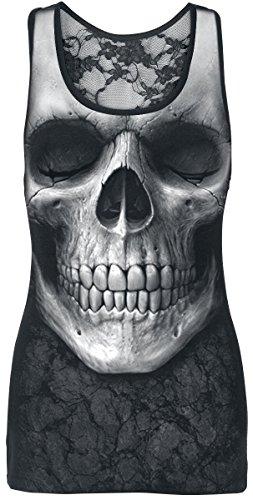 Spiral Solemn Skull Top donna nero XL