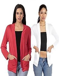 Teemoods Womens Viscose Shrugs -Red -Large_2shrugcomboK_L