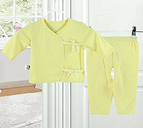 [icekon Comfortable Cotton Lacing Underwear 2 Piece Suits for Baby Yellow S Size] (Agent Carter Halloween Costume)