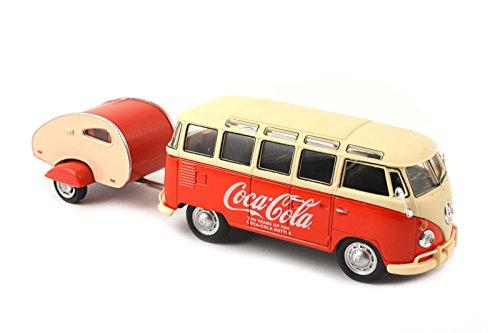 Motor City Classics 1962 VW Samba Bus with Trailer