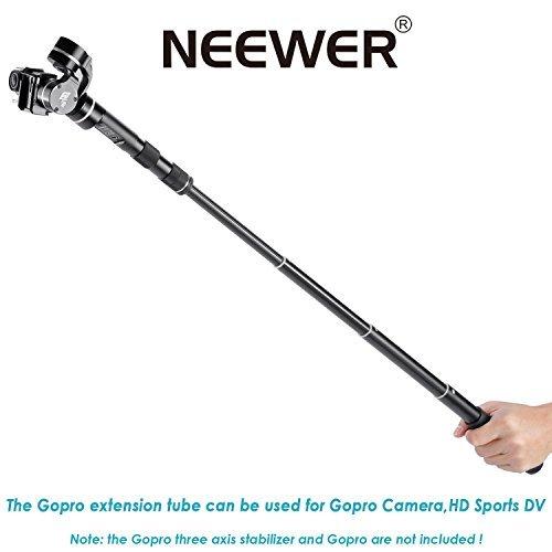 "Neewer® 28 ""/ 70cm Barre Rod Extension Portable pour Neewer Feiyu G3 / G4 / G4 QD / G4 QS 3 Axes Cardan Stabilisateur (Noir)"