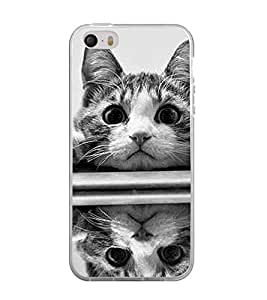 Printvisa Pussy Cat Reflected Image Back Case Cover for Apple iPhone 4::Apple iPhone 4S