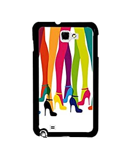 Fuson Premium Step Up Metal Printed with Hard Plastic Back Case Cover for Samsung Galaxy Note 2 N7100