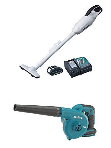 Makita Tools 18V Compact Lithium-Ion Battery Cordless Shop Vacuum & Blower Kit (Makita Blower Kit compare prices)