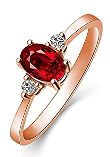 buy 1 Carat Trilogy Ruby And Diamond Engagement Ring In Rose Gold