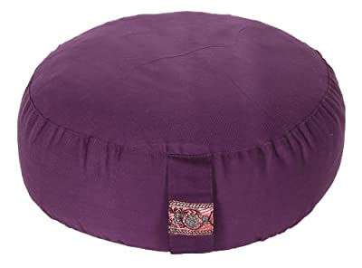 Meditationskissen Glückssitz Basic aubergine, Ø 33 cm x 15 cm, Bezug und Inlett 100% Baumwolle, Bezug und Inlett maschinenwaschbar bis 30º C