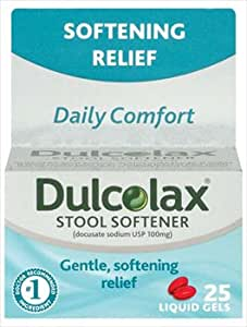 Amazon Com Dulcolax Daily Comfort Softening Relief Stool