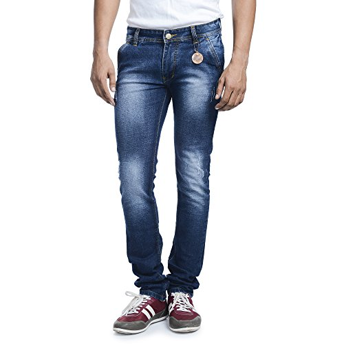 SAVON-Mens-Slim-Fit-Stretch-Blue-damaged-Denim-Jeans-For-Men-28