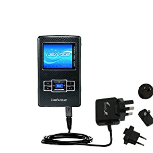 International Wall Home AC Charger for the iRiver H320 - uses Gomadic TipExchange Technology