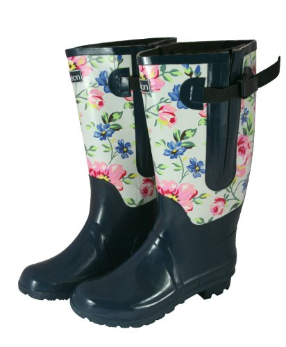 Extra Wide Fit Rain Boots - 2 Tone Floral: Up to 20