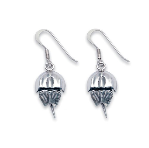 Sterling Silver Horseshoe Crab French Wire Earrings