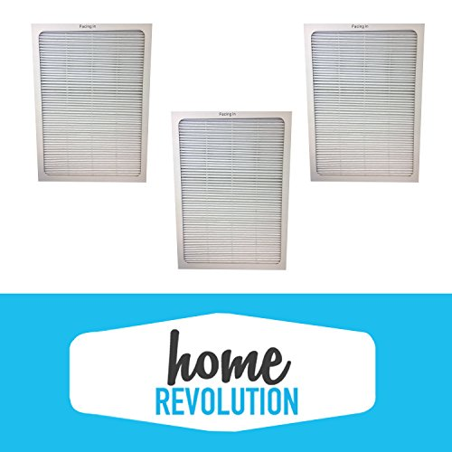 3 Blueair 500 600 501, 503, 550E, 601, 603, 650E Series Comparable Air Purifier Filters; A Home Revolution Brand Quality Replacement.
