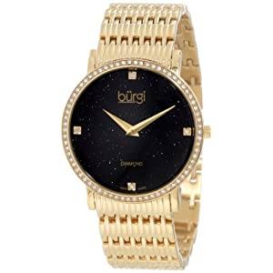 Burgi Women's BUR064YG Swiss Quartz Diamond Bracelet Watch