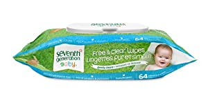 Seventh Generation Thick & Strong Free and Clear Baby Wipes with Flip Top Dispenser, 768 Ct