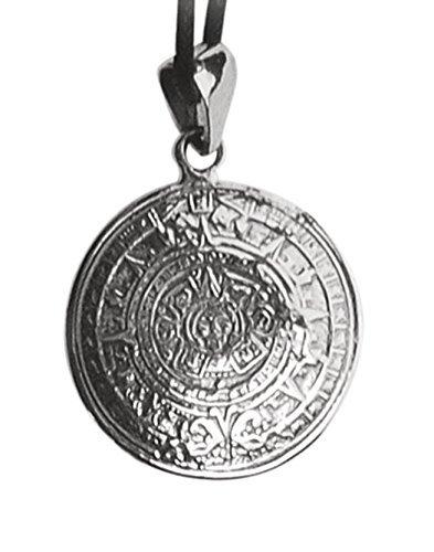 """Echt etNox - Ciondolo """"Calendario azteco"""" in argento puro 925 (K718)"""