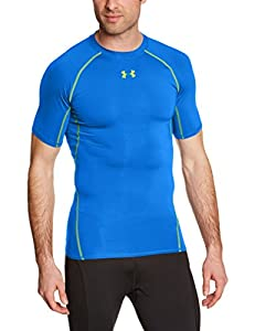 Under Armour Herren Fitness - T-Shirt HG Short Sleeve T, Blue Jet, XXL